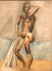 1909, Pablo Picasso, Bather (R.M.Lenox) Tags: pablopicasso spanish museumofmodernart moma accuratecolor highresolution painting museum chronology timeline