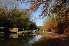 Photo of 10th November 2019. Lock No. 6 on the Peak Forest Canal at Marple, Derbyshire
