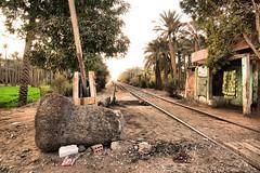 Dusty railroad crossing ©twe2019☼ (theWolfsEye☼) Tags: thewolfseye aegypten egypt dahshourtahmard gizagovernorate railroad railway railroadcrossing eisenbahn eisenbahnübergang