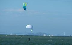 crossing paths (Riex) Tags: kiteboarding kite board surfer kitesurfer kitesurfing surf sanmateocounty sanfranciscobay california sports wind baybridge californie sfba xmount metabones speedbooster adapter takumar smc 300mm f4 fujifilm xh1 fujix m42 screwmount pentaxmount cpl