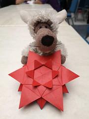 Wölfi Star by Helga Scheef (Stefano Borroni (Stia)) Tags: origami origamipaper origamicdo origamilove origamiart piegarelacarta arte folding foldingpaper papiroflexia carta paper art star stella wölfi