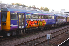 No Need For That.... (marcus.45111) Tags: graffiti class142 pacerdmu 142084 sheffieldmidland northernrail flickr flickruk 2019 uk railways