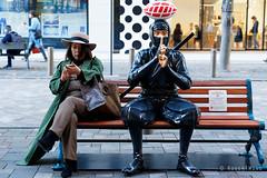 20191112-058-Woman with ninja (Roger T Wong) Tags: 2019 asia japan rogertwong sel24105g sony24105 sonya7iii sonyalpha7iii sonyfe24105mmf4goss sonyilce7m3 tokyo art sculpture travel