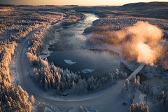 Jokkfall (Airpixelsmedia) Tags: lapland landscape nature sunset sunrise sweden arctic forest river waterfall jokkfall airpixels