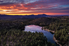 Goldwater Sunset (M@ H) Tags: aerial arizona dji goldwaterlake lake mountains prescott sunset blue drone evening forest landscape nationalforest orang vista