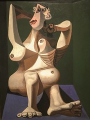 1940, Pablo Picasso, Woman Dressing Her Hair (R.M.Lenox) Tags: pablopicasso spanish museumofmodernart moma accuratecolor highresolution painting museum chronology timeline
