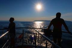 On a ship... (ZdenHer) Tags: ship people sea sun sky blue canonpowershotg7xmarkii canon waves reflection