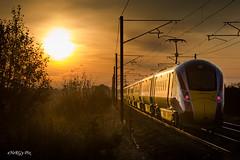 Sunrise Azuma ~ 13/11/19 (deltic17) Tags: lner azuma class800 800204 800205 sunrise morning train ecml eastcoastmainline