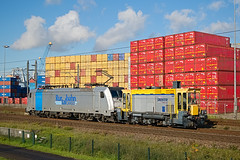 Shunter 603 - Rotterdam (rvdbreevaart) Tags: shunter 603 rotterdam havenspoorlijn ok rtbcargo br186 bombardier traxx trein rangeerlocomotief eisenbahn railway ferrovie raw rawtherapee