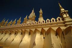 The main golden temple in Vientiane, Laos (albatz) Tags: golden temple vientiane laos lotus