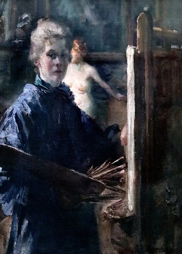 IMG_2419 Anna Hillermann  Selbsbildnis im atelier vers 1900  München Lenbachhaus