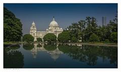 Victoria Monument, Kolkata, Bengal. (Richard Murrin Art) Tags: victoriamonument kolkata bengal india sky reflection richard murrin art