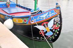 Painted boat in Chioggia (Sokleine) Tags: bateau boat decoration peinture détails chioggia veneto italia italie italy eu europe water canal