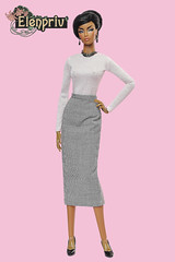 Higher Fashion Royalty in outfit by ELENPRIV (elenpriv) Tags: higherfashionroyalty 16inch fr16 fashion doll midi skirt top classiccheckered collection integrity toys jasonwu fashiondoll dollclothes clothes handmade elenpriv elena peredreeva