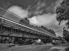Die Eisenbahn / The railroad (ludwigrudolf232) Tags: brücke zug einfarbig