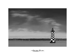 Perdrix en NB (Seb BAUDIN) Tags: nikon d7000 70200 loctudy finistère bretagne brittany breizh tourelle des perdrix pose longue long exposure noir et blanc black white paysage mer sea littoral seascape sébastien baudin