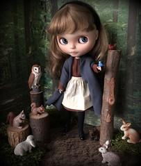 """Sleeping Beauty"" BaD 11/13/19 (Foxy Belle) Tags: doll blythe forest animals diorama birds trees woods 16 scale scene sleeping beauty custom"