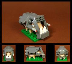 Battle Boar (Karf Oohlu) Tags: lego moc figure pig hog boar battleboar warpig