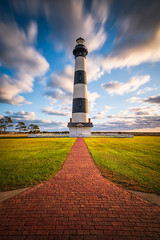 Coastal North Carolina Bodie Island Lighthouse Cape Hatteras National Seashore OBX NC (Dave Allen Photography) Tags: box outerbanks lighthouse nc bodieislandlighthouse coast coastal northcarolina bodie island beach atlantic nagshead nikon cape hatteras seashore capehatteras icon autumn longexposure nd