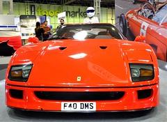 The Stig . (steven.barker57) Tags: a ferrari f40 the stig 2019 classic car sports show bitmingham nec red sport uk england