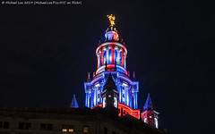 Municipal Building (20191111-DSC08880) (Michael.Lee.Pics.NYC) Tags: newyork municipalbuilding night veteransday architecture cityscape cupola illuminated color sony a7rm4 fe24105mmf4g
