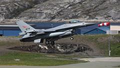 Sock it to me (crusader752) Tags: royalnorwegianairforce generaldynamics f16am viper 674 bodø norway ace19 windsock fightingfalcon arcticchallenge 2019