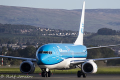 PH-BCH Boeing 737-800 KLM Glasgow airport EGPF 01-10-19 (rjonsen) Tags: plane airplane aircraft aviation airliner taxying airside blue