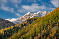 Vallée d'Arvieux - Queyras (jean-louis21) Tags: queyras mélèze automne neige montagne vallée arvieux montain fall colors snow