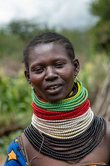 Turkana Tribe (Rod Waddington) Tags: africa african afrique afrika uganda ugandan eastern turkana tribe traditional tribal beads portrait people culture cultural outdoor village ethnic ethnicity regalia