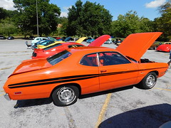 1971 Dodge Demon 340 (splattergraphics) Tags: 1971 dodge demon demon340 abody mopar carshow lowthermanorlodge lewisberrypa