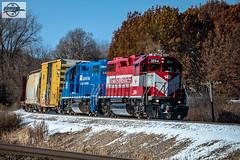 Eastbound WSOR Local Train at Ackerville, WI (Mo-Pump) Tags: train railroad railfan railroader railway railroading railroads railfanrailroader locomotive