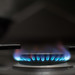 Close-up of flames on a gas stove