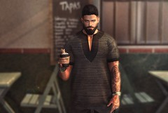 [ 📷 - 172 ] (insociable.sl) Tags: coffee ink tattoo beard hipster boy man male edit sl secondlife amias magnificient
