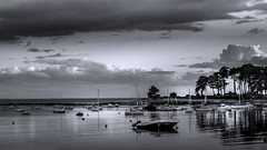 End of day (mostodol) Tags: saintphilibert morbihan france french bretagne brittany breizh bzh water eau mer ocean atlantique atlantic blackandwhite noir blanc black white