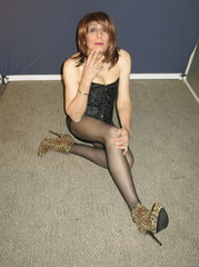 Risky shot...did it pay off (ericaklein8) Tags: legs stockings pantyhose shoes heels boots td tv ts trans tranny transgender cute sexy hot fetish boobs clevage breasts sitting