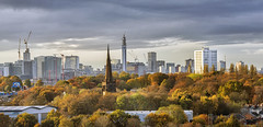 Birmingham Autumn Glory (Tracey Whitefoot) Tags: 2019 autumn fall cityscape birmingham west midlands november england skyline trees color colouorful colour tracey whitefoot