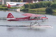 N3495Z - 1960 build Piper PA-18A-150 Super Cub, taxiing for departure at Lake Hood (egcc) Tags: 187336 alaska anchorage dillon lhd lakehood lakehoodseaplanebase lakespenard lightroom n3495z pa18 pa18150 pa18a palh piper supercub