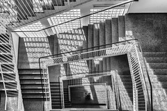 Sqared Structures (*Capture the Moment*) Tags: 2019 fotowalk munich münchen october oktober sonya6300 sonye18200mmoss sonye356318200oss sonyilce6300 staircase stairs tum