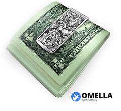 MONEY CLIP (www.omellagrabados.com) Tags: httpsomellagrabadoscom pinza plata para sujeta sujetar billetes personalizada omella omellagrabados de dolar