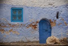 Blue door and window (JLM62380) Tags: afrique africa chefchaouen morocco town ville bleu blue door porte painting peinture rue street