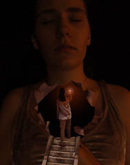 Searching (Madeleine .) Tags: depression therapy fantasy photomanipulation art woman dark self searching