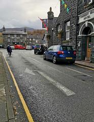 Turn left (Helen in Wales) Tags: arrow turn pubs yellowline