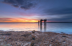 Solent Dawn (nicklucas2) Tags: seascape lepe hampshire newforest sea solent isleofwight cloud sunrise