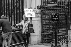 BREXIT NOW (JuliSonne) Tags: streetphotography people protester brexit london publicopinion politics