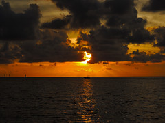 Sunset From Hudson (George Neat) Tags: fl florida beach summer vacation water gulfofmexico clouds pasco county sun sunset reflection georgeneat patriotportraits neatroadtrips outside scenic scenery landscape hudson