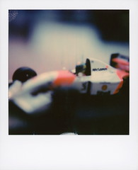 Senna (tobysx70) Tags: color film polaroid sx70 originals instant car race 1 f1 racing 1993 mclaren formula sonar senna ayrton sx70sonar mp48 art wheel toy model eagle shell tire pauls oil driver goodyear tyre minichamps courtaulds boss set logo lens sticker bokeh helmet wing mint marlboro decal hugo sponsor airbox toby closeup photography hancock expired