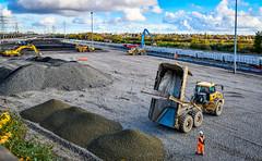 66105 and 66063 at Washwood Heath (robmcrorie) Tags: 66105 washwood heath down yard first use moreton lugg tarmac unloading construction asphalt plant nikon d850 66063 corby margam steel