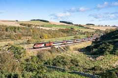 Leaving it late..... (Rails West) Tags: 125 ecml houndwood lner lner125 locations scotland