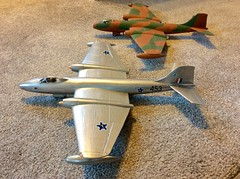 Two Canberras. (models) (Gooders2011) Tags: englishelectriccanberra models aircraft bomber rhodesianairforce southafrica