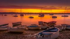 Waldringfield Glow (Aron Radford Photography) Tags: purple waldringfield suffolk river orwell water riverbank boat rowing sunrise dawn east anglia landscape forshore